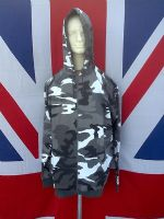 ## NEW ## SNOW CAMO SWEAT TOP JACKET WITH HOOD